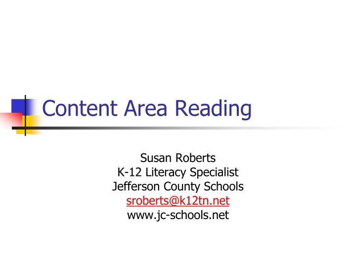 content area reading n.