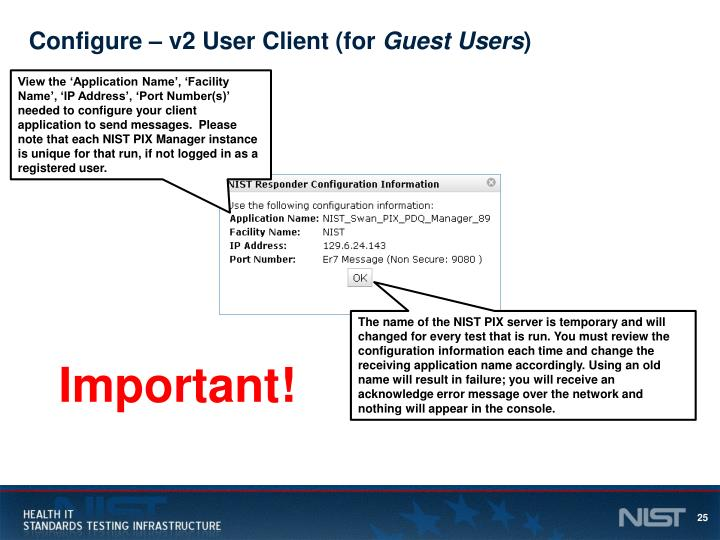 Configure – v2 User Client (for