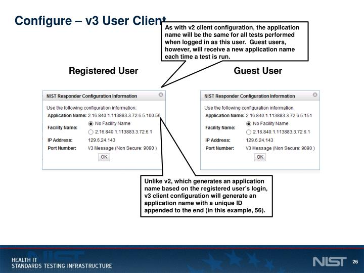 Configure – v3 User Client