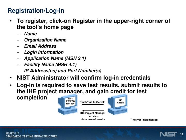 Registration/Log-in