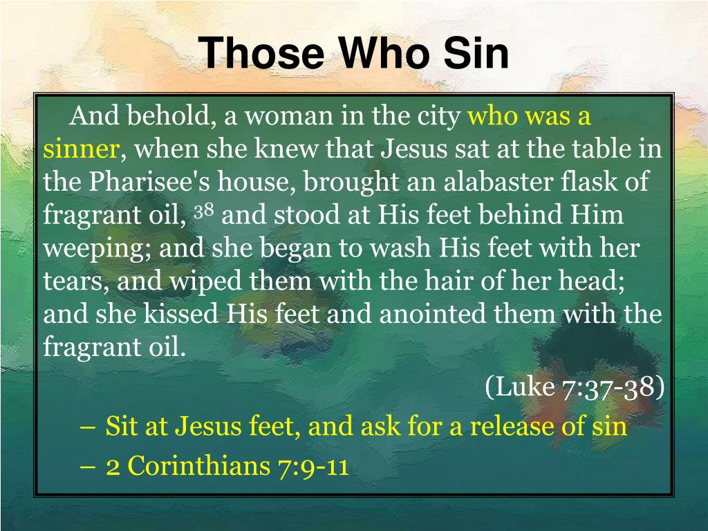 Those Who Sin