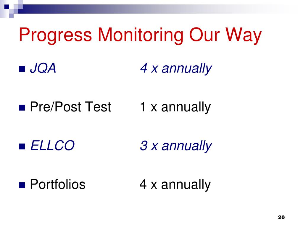 Progress Monitoring Our Way