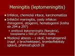 meningitis leptomeningitis