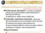 educational responses to cultural diversity