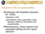 students with exceptionalities