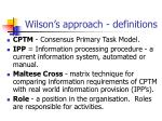 wilson s approach definitions