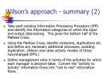 wilson s approach summary 2