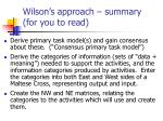 wilson s approach summary for you to read