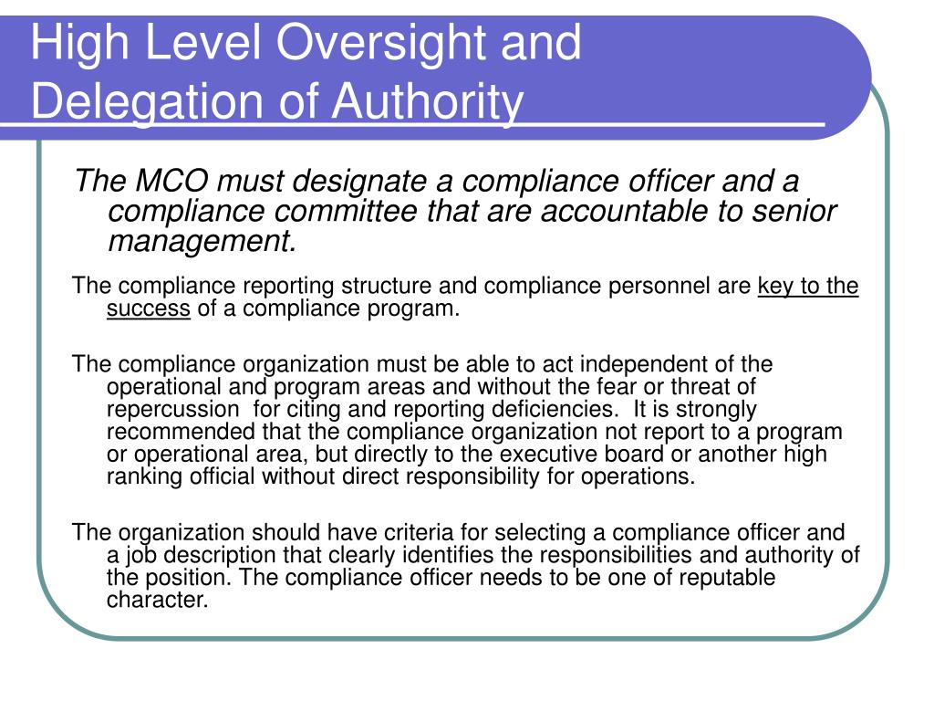 Ppt guidelines for constructing a compliance program for - Compliance officer job description healthcare ...