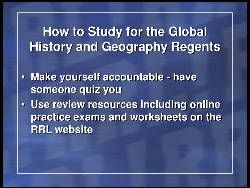 global practice regents essay