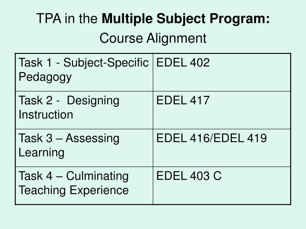 Ppt California Teaching Performance Assessment Ca Tpa Powerpoint Presentation Id 432979