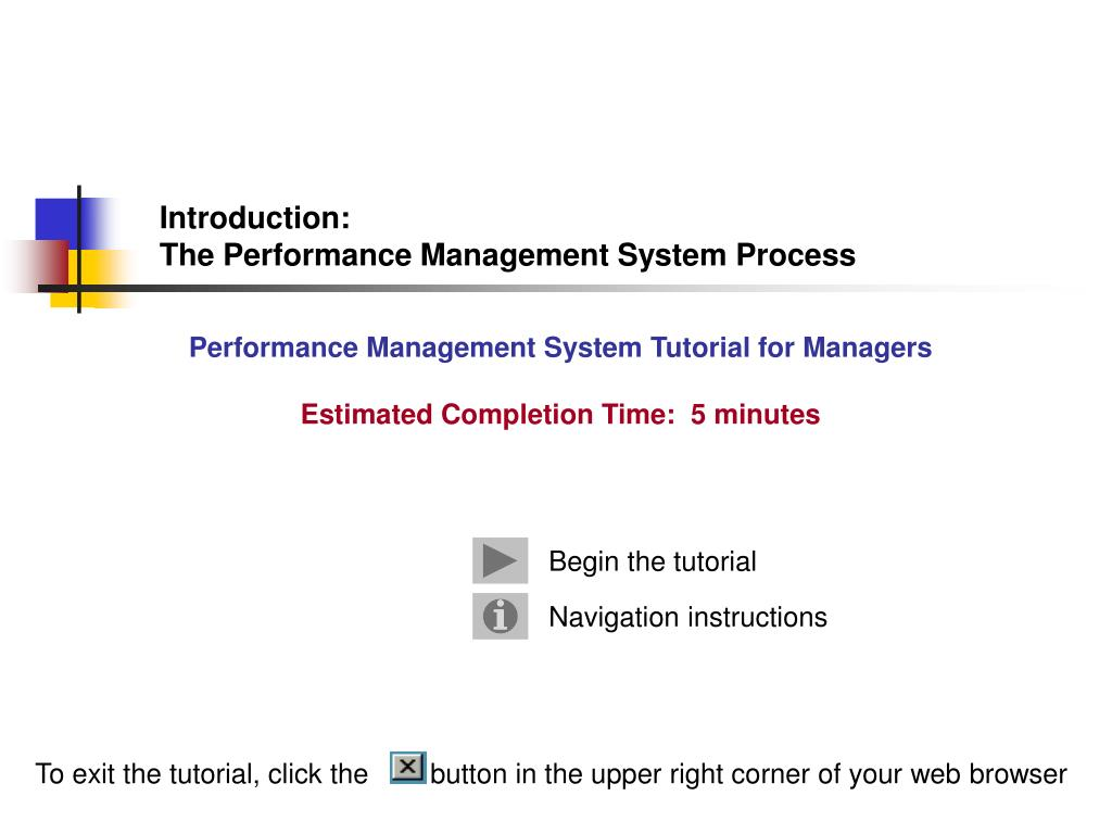 PPT - Introduction: The Performance Management System Process