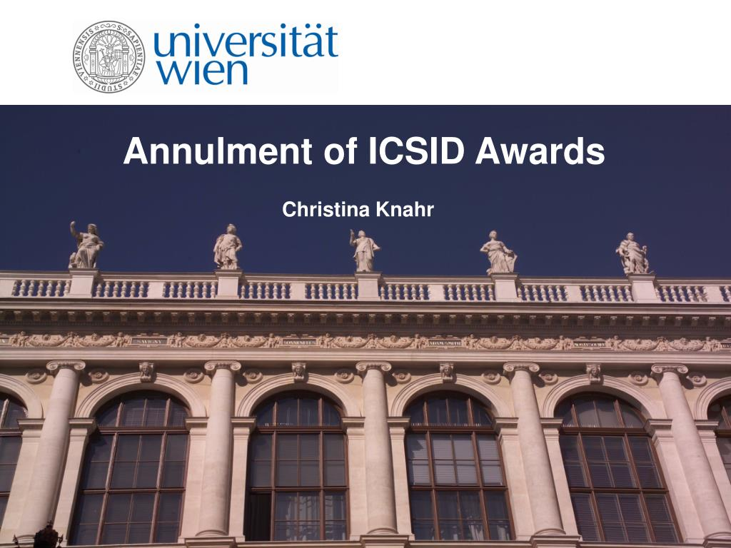 annulment of icsid awards l.