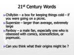 21 st century words