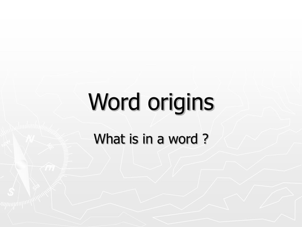 word origins l.