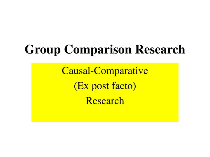 group comparison research n.