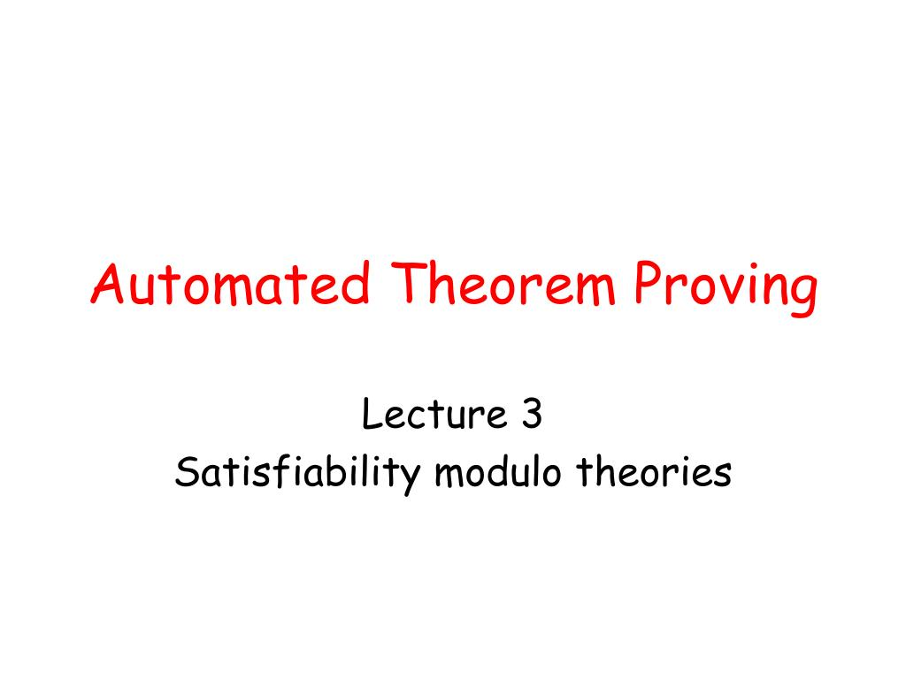 automated theorem proving l.