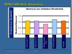 model calibration historical loss