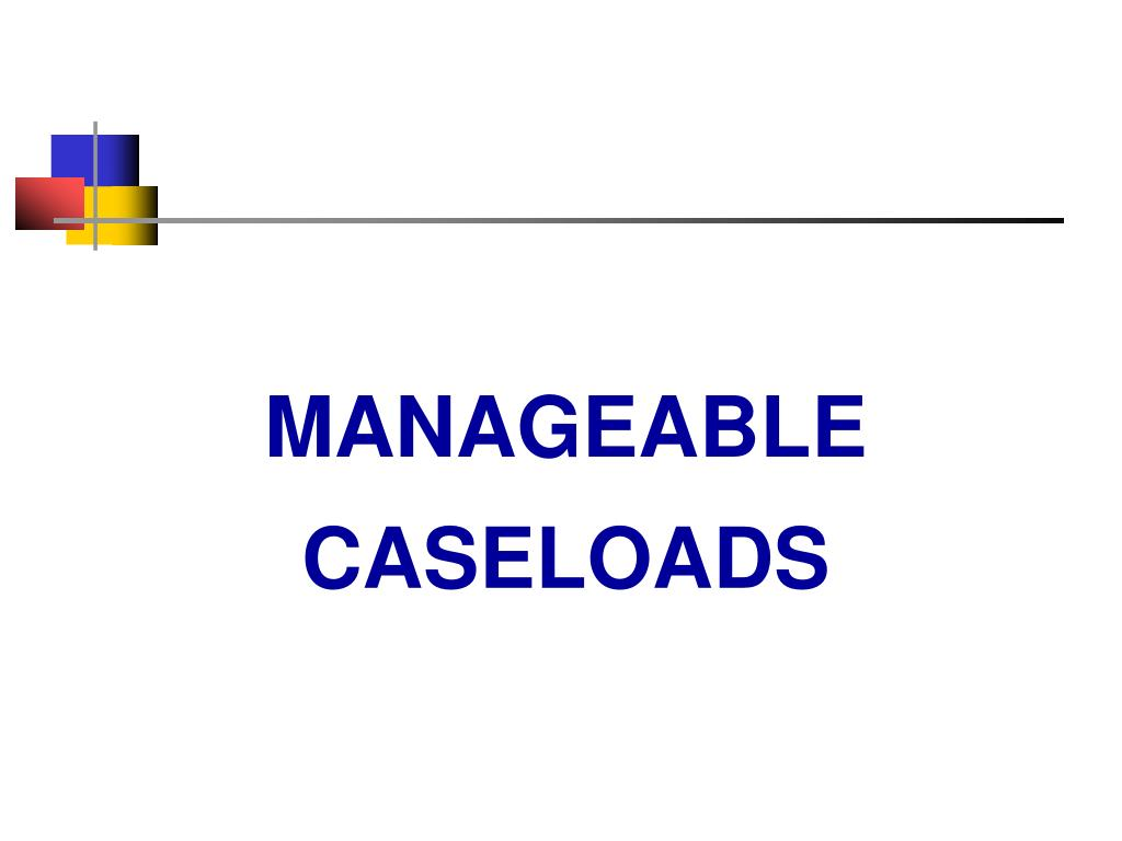 MANAGEABLE CASELOADS