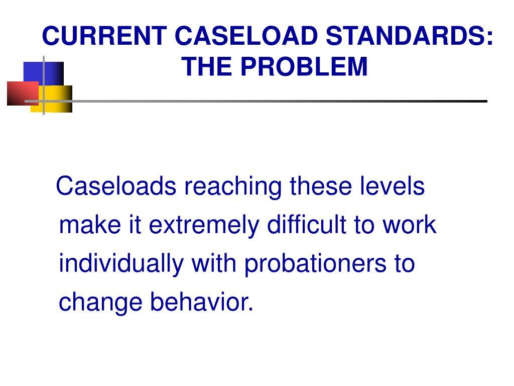 CURRENT CASELOAD STANDARDS: