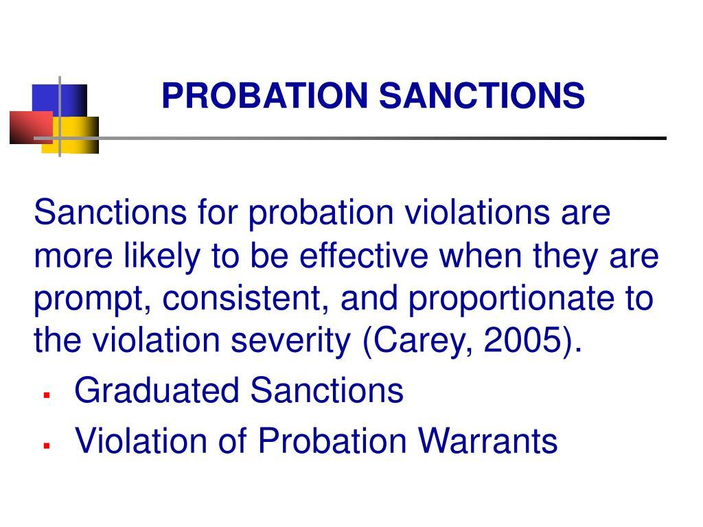PROBATION SANCTIONS