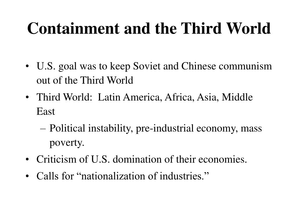 Containment and the Third World