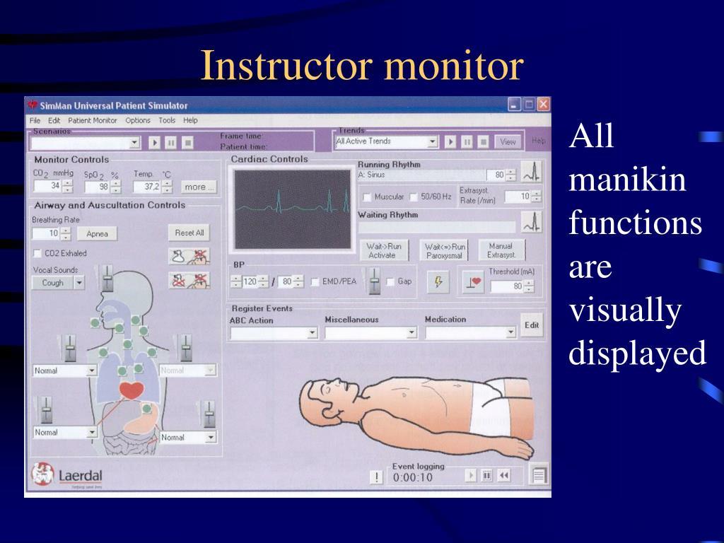 Instructor monitor