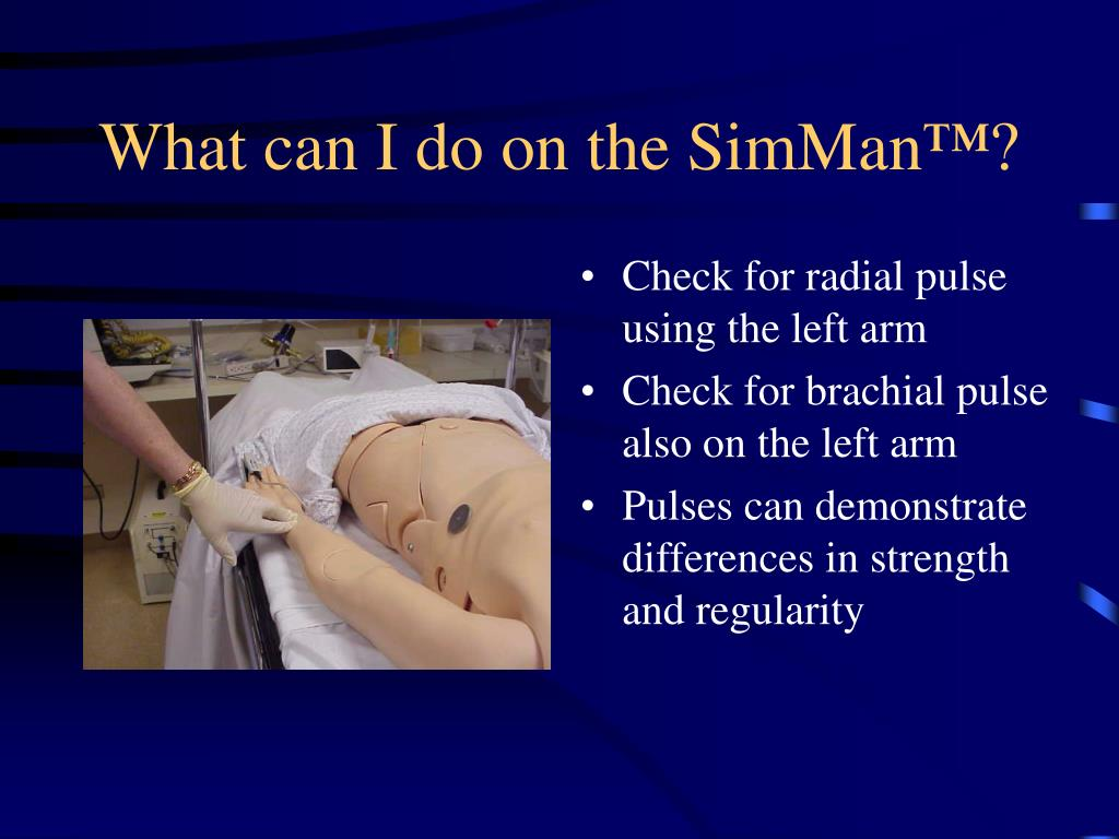What can I do on the SimMan