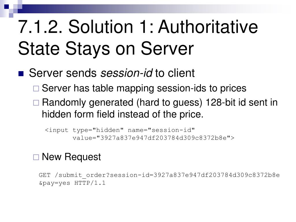 7.1.2. Solution 1: Authoritative State Stays on Server