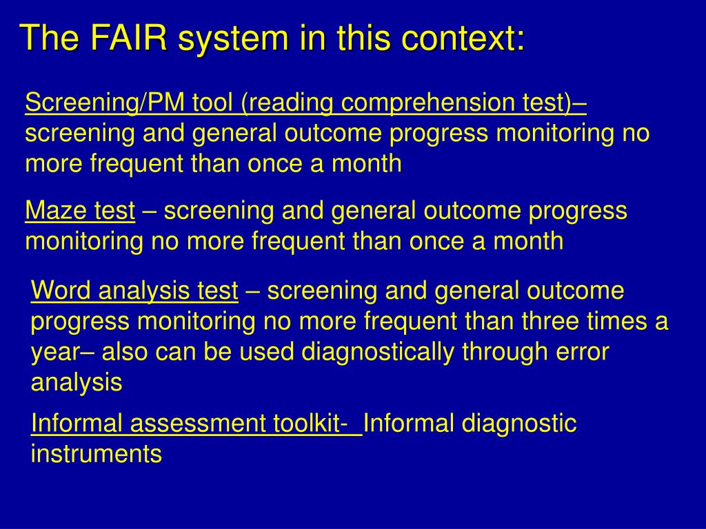 The FAIR system in this context:
