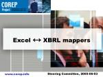 excel xbrl mappers