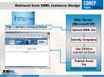 retrieval from xbrl instance design