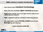xbrl instance creation architecture