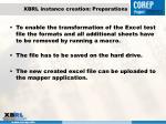 xbrl instance creation preparations