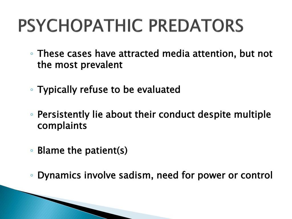 PSYCHOPATHIC PREDATORS