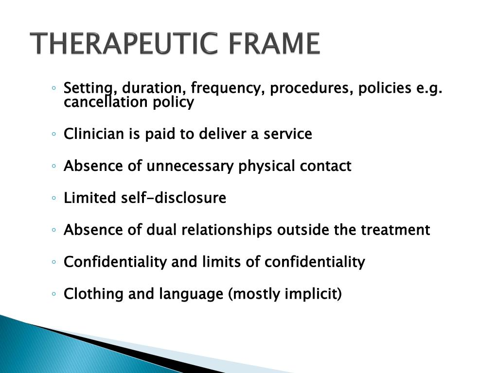 THERAPEUTIC FRAME