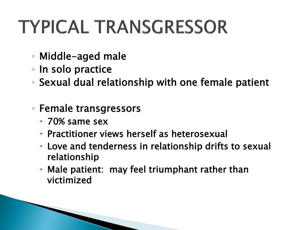 TYPICAL TRANSGRESSOR