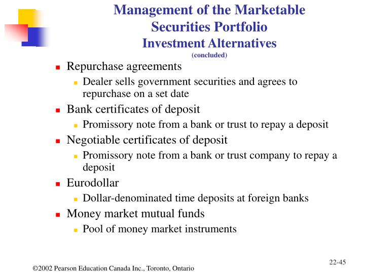 Liquidating distribution of marketable securities from investment