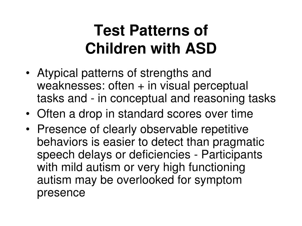 PPT - Autism Spectrum Disorders Assessment and Evaluation