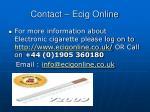 contact ecig online