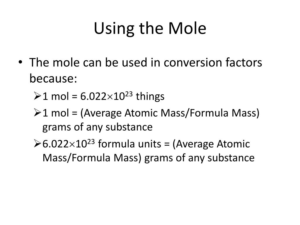 how to find average mass of a compound in grams