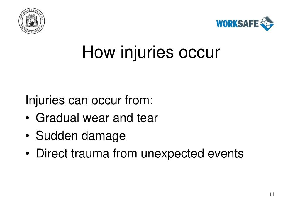How injuries occur