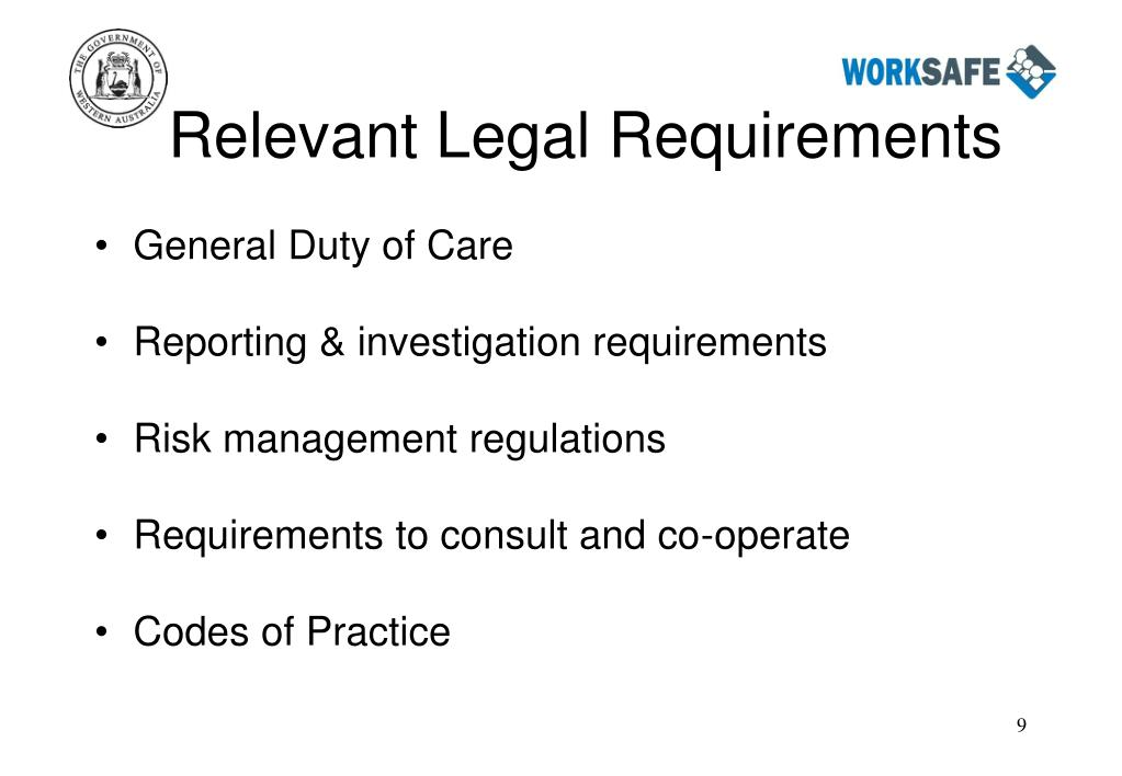 Relevant Legal Requirements