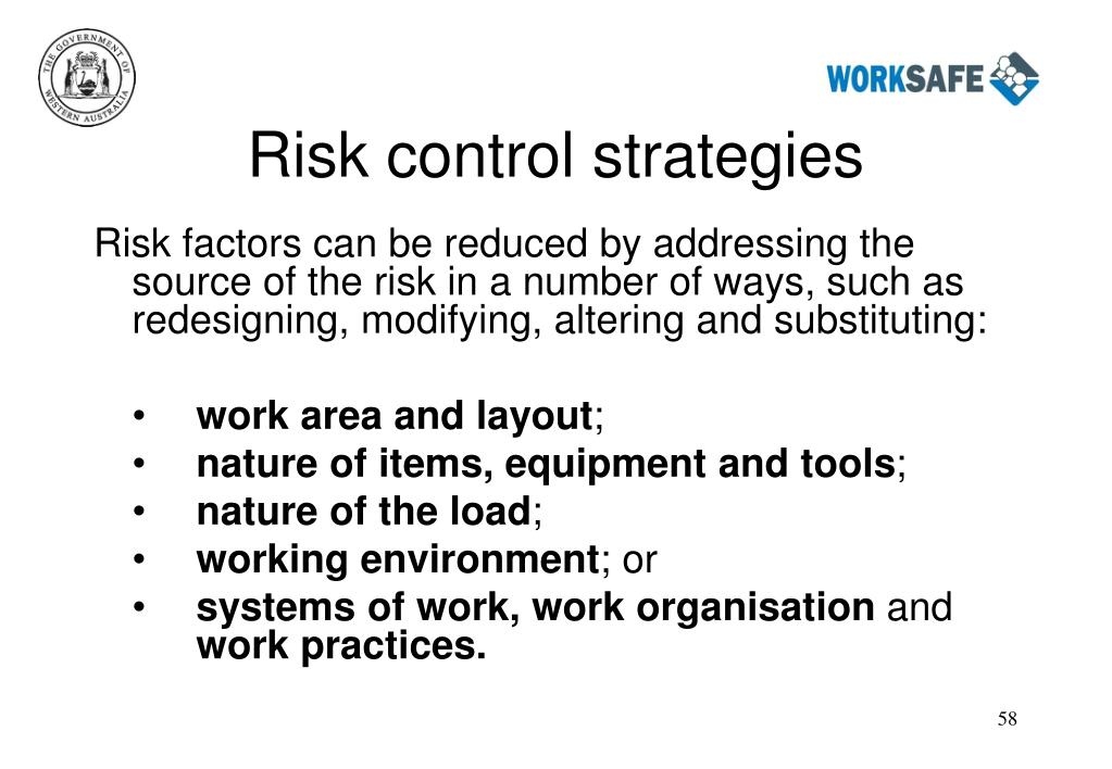 Risk control strategies