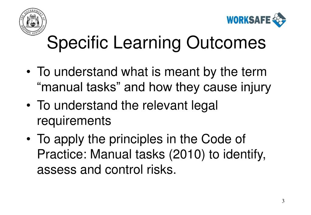 Specific Learning Outcomes