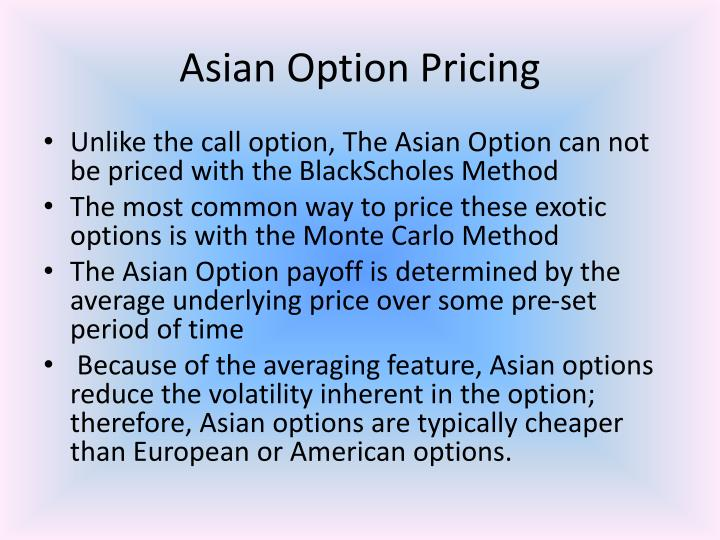 Asian call options special