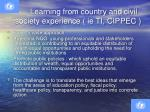 learning from country and civil society experience ie ti cippec