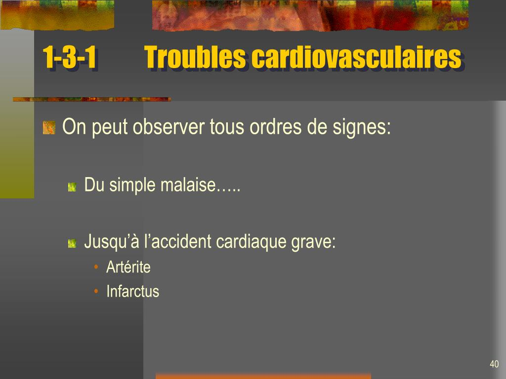 1-3-1Troubles cardiovasculaires