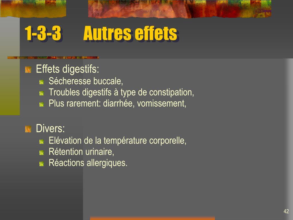 1-3-3Autres effets