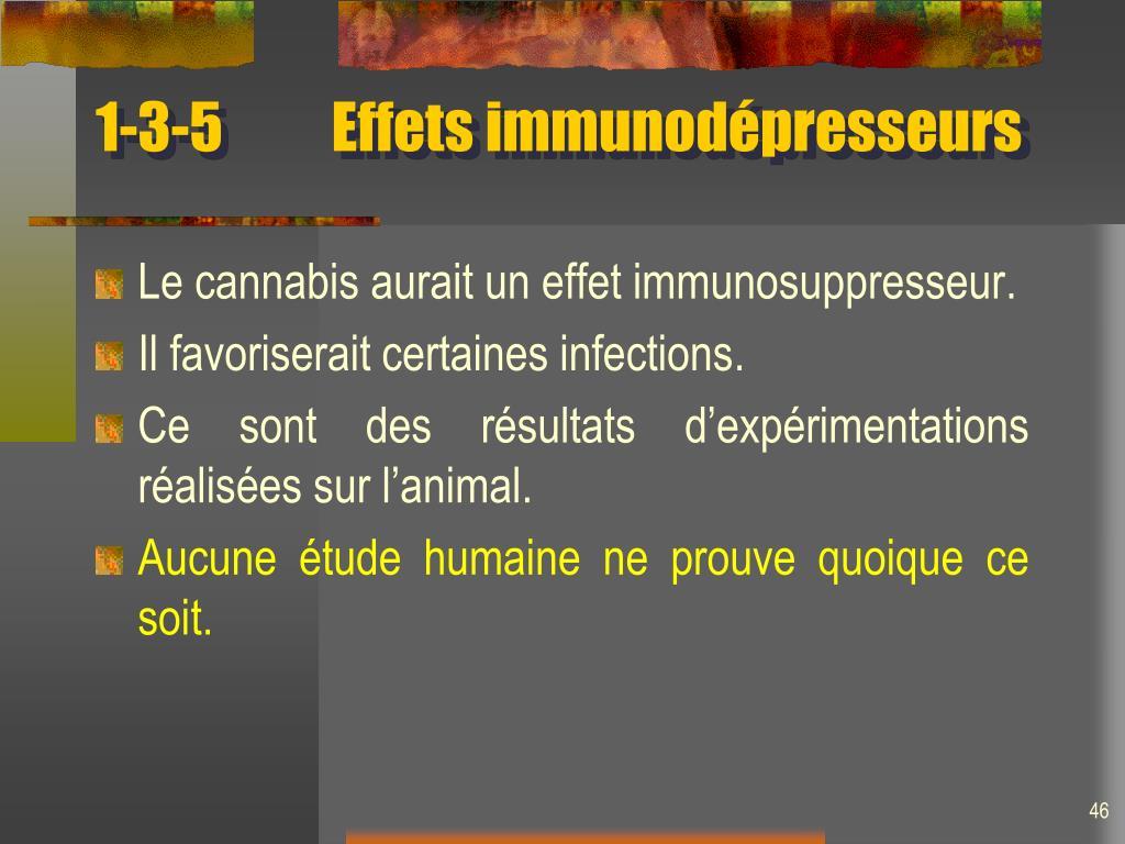 1-3-5 Effets immunodépresseurs